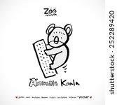 hand drawn zoo illustration  ... | Shutterstock .eps vector #252289420