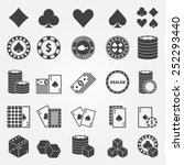 Poker Icons Set   Vector...