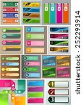 colorful modern text box... | Shutterstock .eps vector #252293914