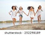 portrait of children on the... | Shutterstock . vector #252298189