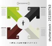modern arrow. infographic...   Shutterstock .eps vector #252300763