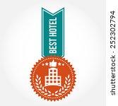 simple vintage best hotel badge | Shutterstock .eps vector #252302794