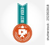 simple vintage best video badge | Shutterstock .eps vector #252302818