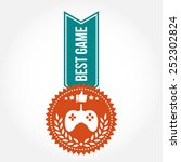 simple vintage best game badge | Shutterstock .eps vector #252302824