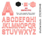 Set Of Bubble Gum Letters And...