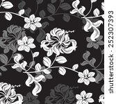 plants seamless pattern... | Shutterstock .eps vector #252307393