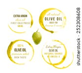 9 oil stains traces with type...