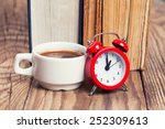 Alarm Clock With Coffe Cup And...