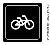bicycle icon sign vector | Shutterstock .eps vector #252319750