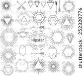 set of hipster elements.... | Shutterstock .eps vector #252320776