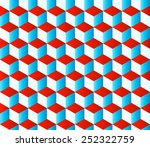 seamless cubic texture with... | Shutterstock .eps vector #252322759