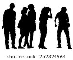 big crowds people of wedding on ... | Shutterstock .eps vector #252324964