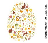 happy easter card | Shutterstock .eps vector #252330436
