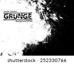 Stock vector grunge black and white distress texture 252330766