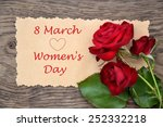 congratulations to the women's... | Shutterstock . vector #252332218