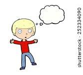 cartoon startled boy with... | Shutterstock . vector #252334090