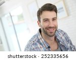 portrait of cheerful 30 year... | Shutterstock . vector #252335656