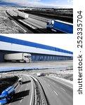 design trucks and transport.... | Shutterstock . vector #252335704