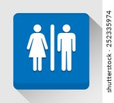toilet icon great for any use.... | Shutterstock .eps vector #252335974