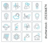 thin line ecology icons set.... | Shutterstock .eps vector #252336874