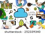 diversity people cloud... | Shutterstock . vector #252339340