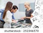 salesperson helps couple to... | Shutterstock . vector #252346570