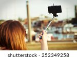 Girl Taking Selfie Picture...