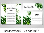 set of invitations with floral... | Shutterstock .eps vector #252353014