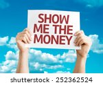 show me the money card with sky ... | Shutterstock . vector #252362524