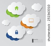 abstract clouds  computing... | Shutterstock .eps vector #252363310