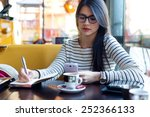portrait of young beautiful... | Shutterstock . vector #252366133