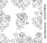 seamless pattern with bouquet... | Shutterstock .eps vector #252375853