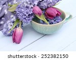 Blue  Lilac Hyacinth And Dusky...