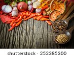 thai food cooking ingredients.  ... | Shutterstock . vector #252385300
