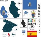 vector map of region of melilla ... | Shutterstock .eps vector #252385780