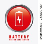 battery icon design  vector... | Shutterstock .eps vector #252390730