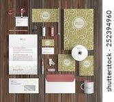 vintage corporate identity... | Shutterstock .eps vector #252394960