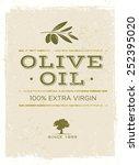 olive oil organic vector... | Shutterstock .eps vector #252395020