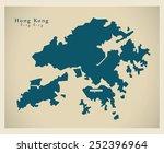 modern map   hong kong cn | Shutterstock .eps vector #252396964