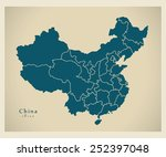 modern map   china with... | Shutterstock .eps vector #252397048
