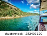 traveling with a boat on the... | Shutterstock . vector #252403120