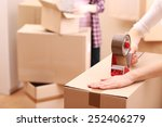 packing boxes close up | Shutterstock . vector #252406279