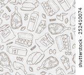 vector seamless illustration of ... | Shutterstock .eps vector #252410074