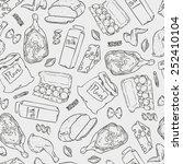 vector seamless illustration of ... | Shutterstock .eps vector #252410104