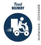 food delivery design  vector...   Shutterstock .eps vector #252416608