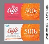 voucher template with premium... | Shutterstock .eps vector #252417388