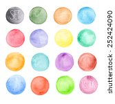 vector watercolors pattern.... | Shutterstock .eps vector #252424090