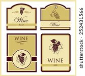 vector collection of four wine...   Shutterstock .eps vector #252431566