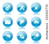 construction tools blue vector... | Shutterstock .eps vector #252431770