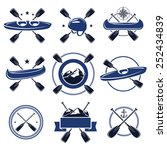 paddle labels and elements set. ... | Shutterstock .eps vector #252434839